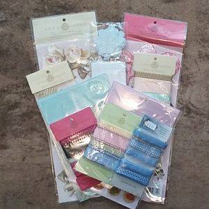 Anna Griffin Stickers Decals Ribbons Lot